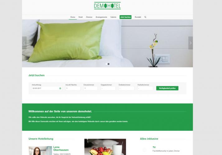 caesar web - Web Design für Hotels - Demohotel 3 - modern, strukturiert und auf das Wesentliche konzentriert!