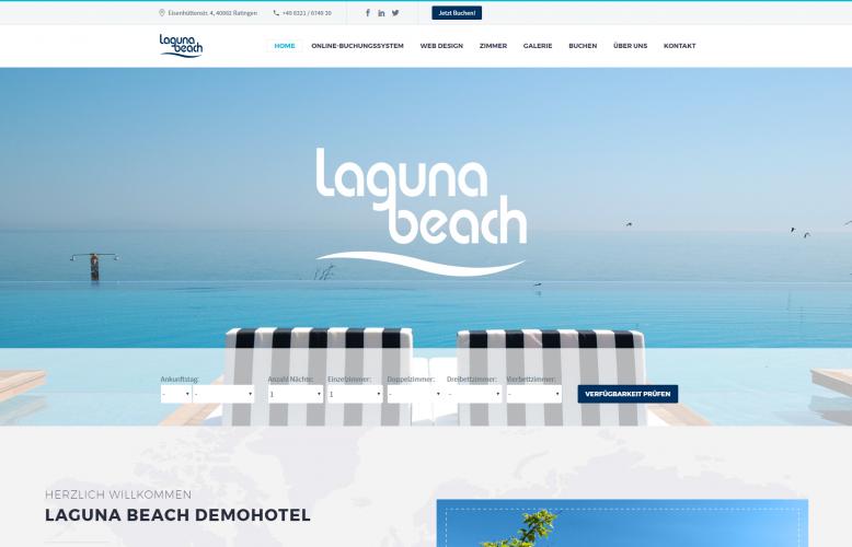 caesar web - Web Design für Hotels - Demohotel 5 - modern, strukturiert und auf das Wesentliche konzentriert!