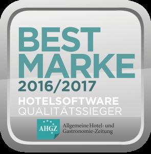 Auszeichnung Bestmarke 2016 2017 Hotelsoftware Qualitätssieger AHGZ hotline Hotelsoftware Best Marke Allgemeine Hotel- und Gastronomie-Zeitung