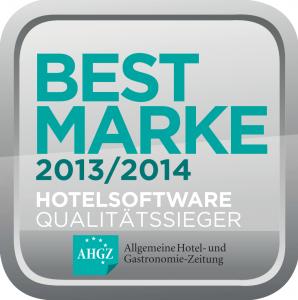 Auszeichnung Bestmarke 2013 2014 Hotelsoftware Qualitätssieger AHGZ hotline Hotelsoftware Best Marke Allgemeine Hotel- und Gastronomie-Zeitung