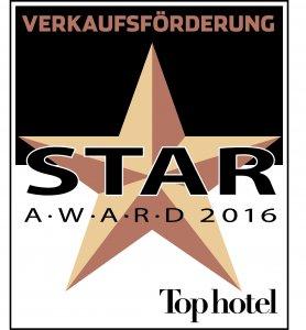 Tophotel Star Award 2016 Bronze Verkaufsförderung Auszeichnung