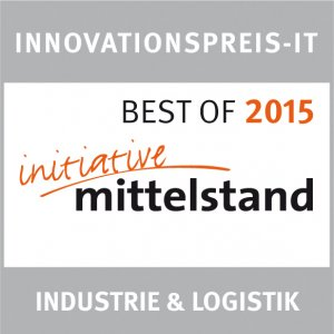 Auszeichnung Innovationspreis IT 2015 Initiative Mittelstand Industrie & Logistik