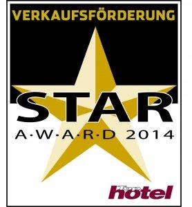 Tophotel Star Award 2014 Gold Verkaufsförderung Auszeichnung