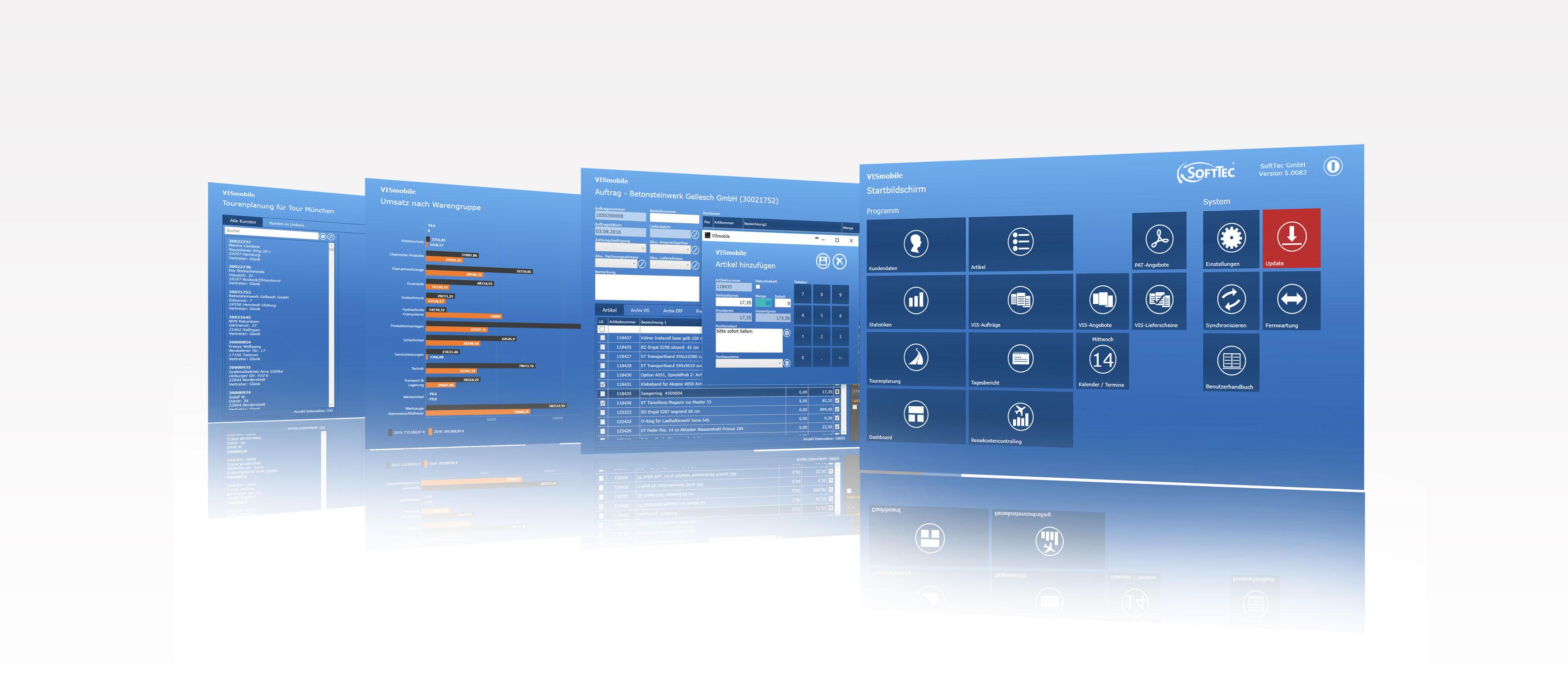 Header VIS-mobile Außendienst-Steuerung Vertreter-Informations-System
