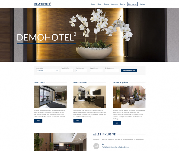Web Design für Hotels caesar data & software Demohotel 3
