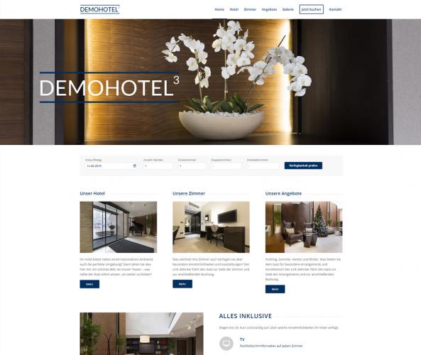 Web Design für Hotels caesar data & software Demohotel 3