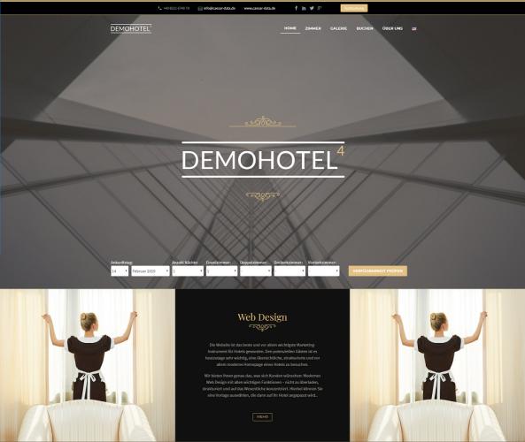 Web Design für Hotels caesar data & software Demohotel 4