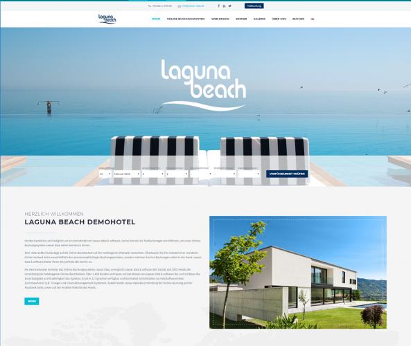 Web Design für Hotels caesar data & software Demohotel 5