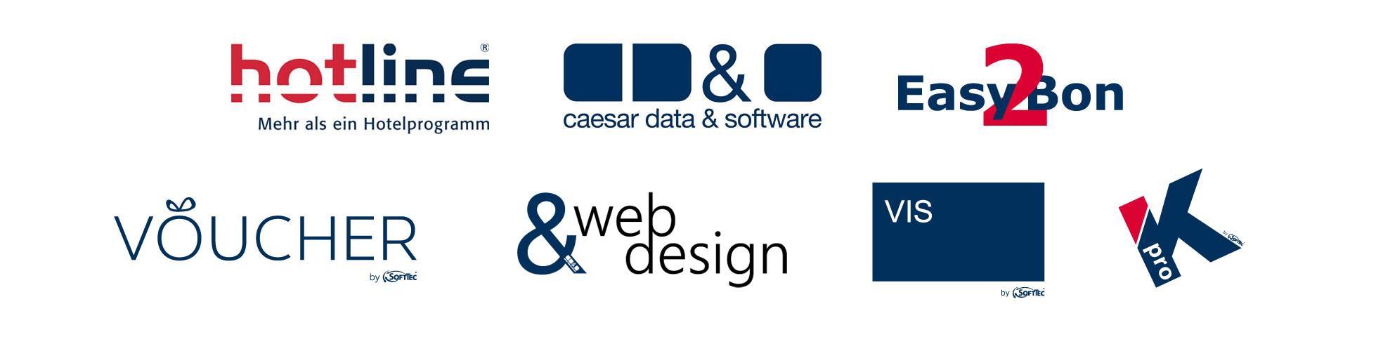 hotline caesar data & software Easy2Bon VOUCHER web&design EASY2RES Kpro VIS SoftTec GmbH